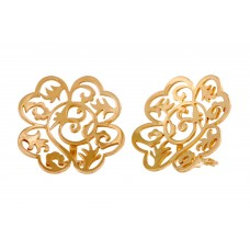 Yellow Gold Earclips